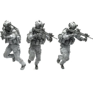 1L35 Modern US Marines Soldier Scar-H in Action Scale Resin Figure AH-07 - Yufan Models Store