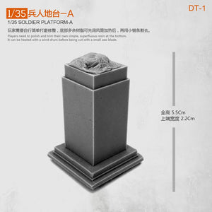 1:35 Accessories Platform-A Scale Resin Model 5CM Uncolored Dt-1 - Yufan Models Store