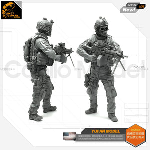 Yufan Model 1/35 Resin Figure Blue Devil Soldier-g Resin Model Ljh-07 For Us Special Forces Model Kit LJH-07