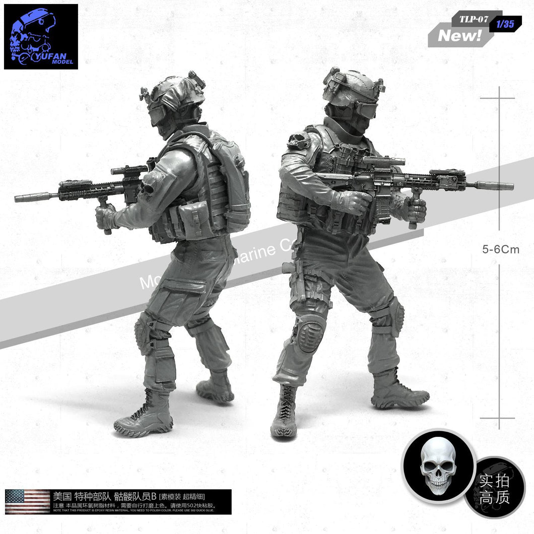 1:35 US SEAL Special Forces Skull Squad Resin Scale Figure TLP-07 - Yufan Models Store