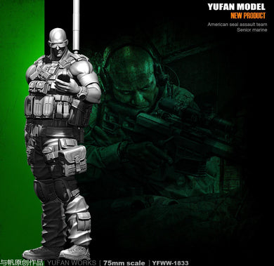 1/35 SEAL Assault Team Senior Marine YFWW35-1833 Resin Scale Model