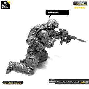 Yufan  Model 1/35 Figure Model Kit Resin Soldier Of Us Seal Commando Unmounted Loo-19