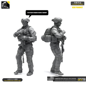 Yufan Model 1/35 Figure Model Kit  Resin Soldier Of Us Seal Commando  Unmouted Loo-22