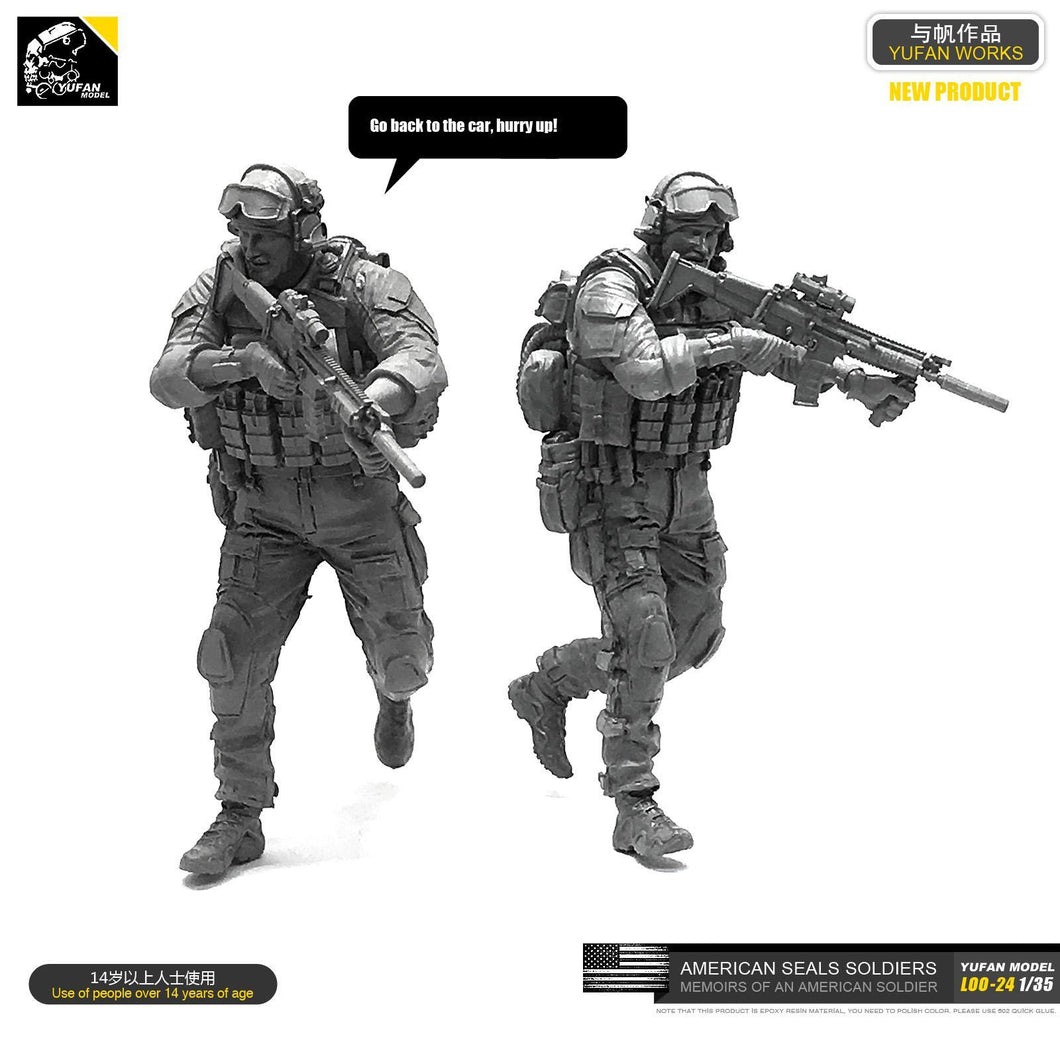 1:35 US Army Elite Special Forces Team Soldier with Scar-L Resin Scale Figure LOO-24 - Yufan Models Store