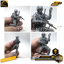Load image into Gallery viewer, Yufan Model 1/35 Resin Figure  Model Kits American Commando Reconnaissance Force Resin Soldier Model Unmounted Nai-11