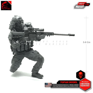 1:35 US Special Forces Modern Sniper with Barrett Resin Scale Figure USK-07 - Yufan Models Store