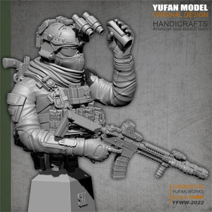 YuFAN Model /18 Resin Kits  American commando, resin soldier, bust  YFWW-2022