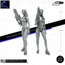 Load image into Gallery viewer, 1/35 Israeli Army Soldier SCAR EGLM Bikini Beach Girl Resin Scale Model