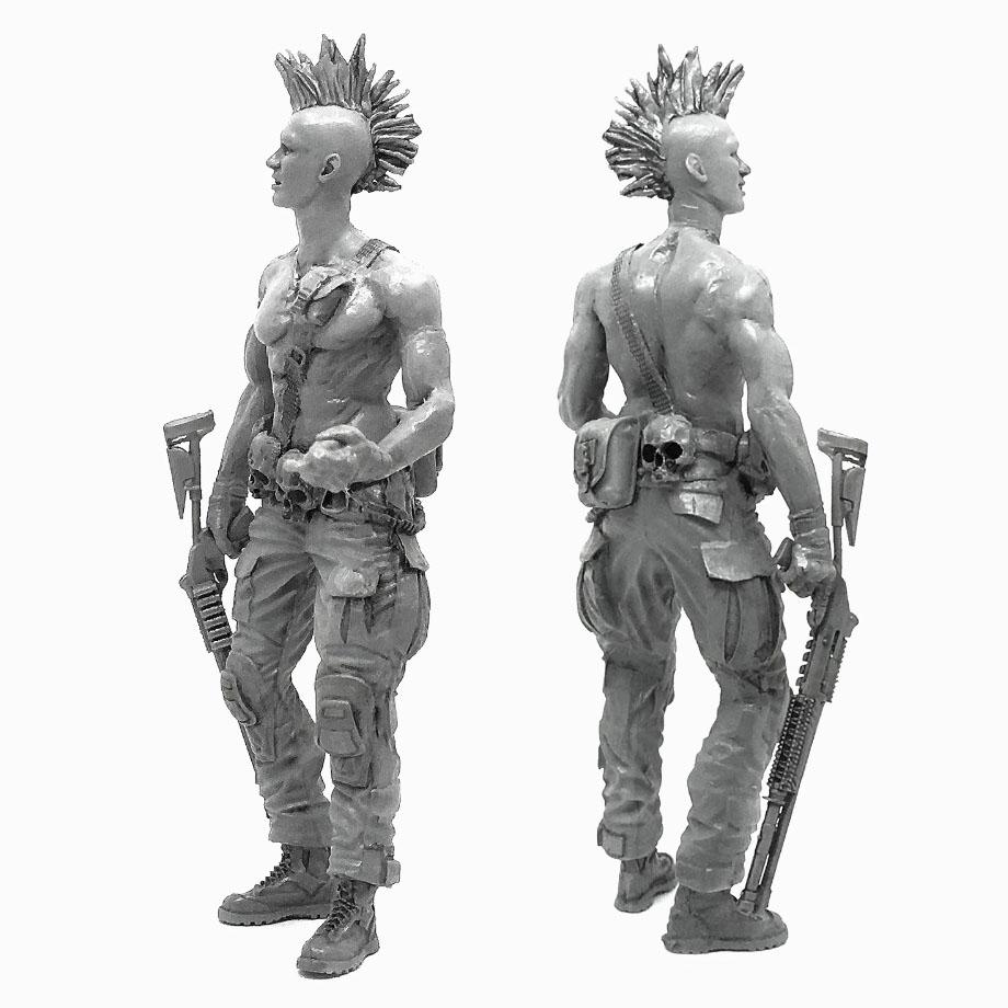 1:35 Postapocalypse Bounty Hunter Resin Scale Figure A18-08 - Yufan Models Store