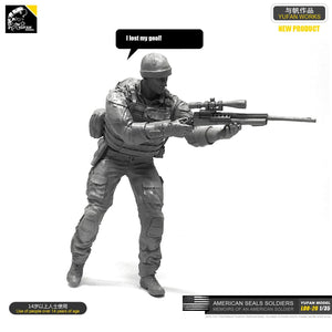 1/35 Resin Kits American Navy Seal Commando Sniper Resin Soldier LOO-26