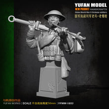 Load image into Gallery viewer, Yufan Model   Bust Resin Soldier Originally Created Chinese Anti-japanese War Veterans YFWW-1855