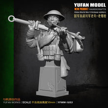 Load image into Gallery viewer, 1:18 Bust Chinese anti-Japanese War Veterans Resin Scale Figure YFWW-1855 - Yufan Models Store
