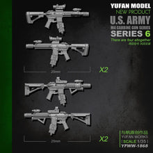 Load image into Gallery viewer, Yufan Model Original 1/35m4 Rifle-6 Resin Soldier Accessories Length 2-3CM Yfww-1868