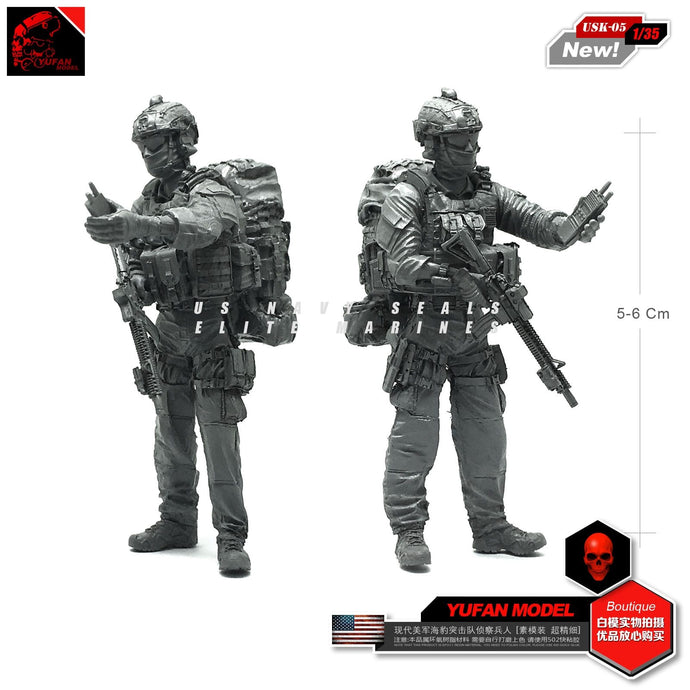 Yufan Model 1/35 Modern Us Seal Reconnaissance Force Resin Soldier Material Usk-05