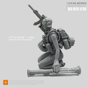 Yufan Model 1/35 Figure Model Kit Female Soldier Seal Seal Field Huntress Djj-13