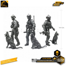 Load image into Gallery viewer, Yufan Model 1/35 Figure Model Kits Modern Us Special Forces And Canine Resin Soldier Model Nai-15