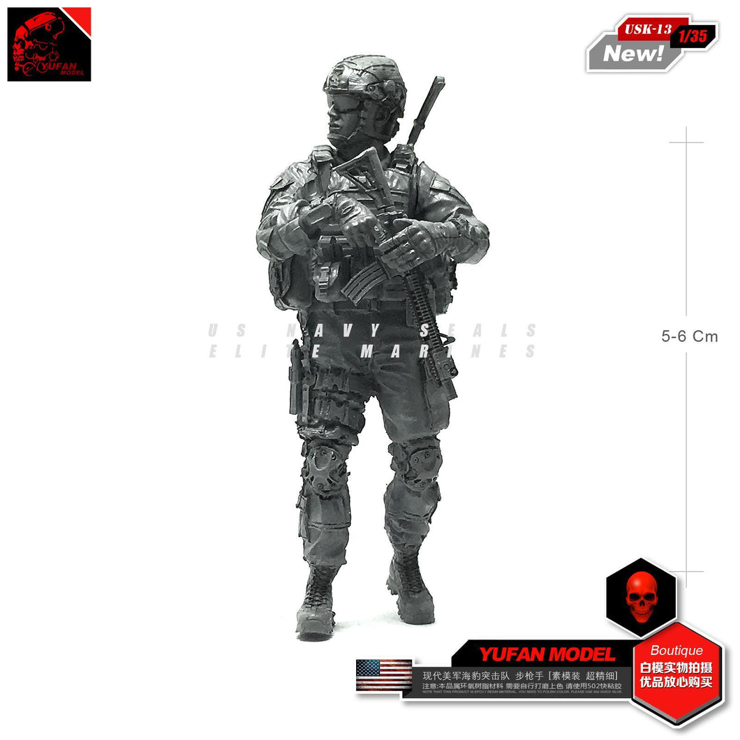 1:35 US NAVY SEAL Soldier Resin Scale Figure USK-13 - Yufan Models Store