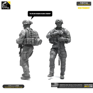1:35 US Marines Soldier Resin Scale Figure LOO-22 - Yufan Models Store