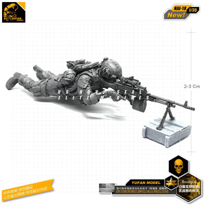 1:35 US Army Soldier wiyh Machine gun Resin Scale Figure NAI-18 - Yufan Models Store
