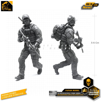 1:35 Modern US Special Forces Soldier Resin Scale Figure NAI-10