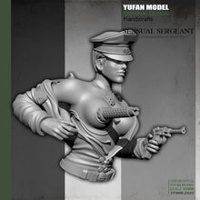 Load image into Gallery viewer, YUFan Model  Resin Kits Bust Sexy female mechanical half body resin soldier  Sefl-assembled YFWW-2025