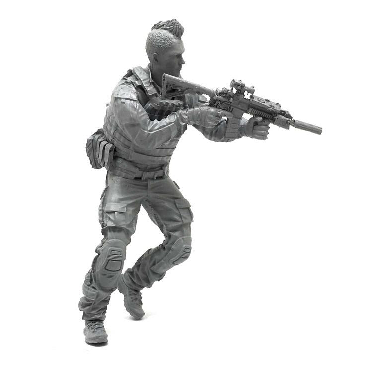 1:35 US Navy Seal Soldier with M4 Rifle in Action Resin Scale Figure DJJ-18 - Yufan Models Store