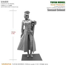 Load image into Gallery viewer, Yufan Model 1/18 Resin Kits Figure  Sexy Women Officers Resin Soldiers  90mm YFWW-1813