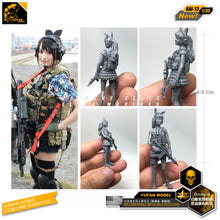 Load image into Gallery viewer, Yufan Model 1/35 Figure Model Kit Japanese Maiden American Equipments 2 Resin Soldier Model Nai-14