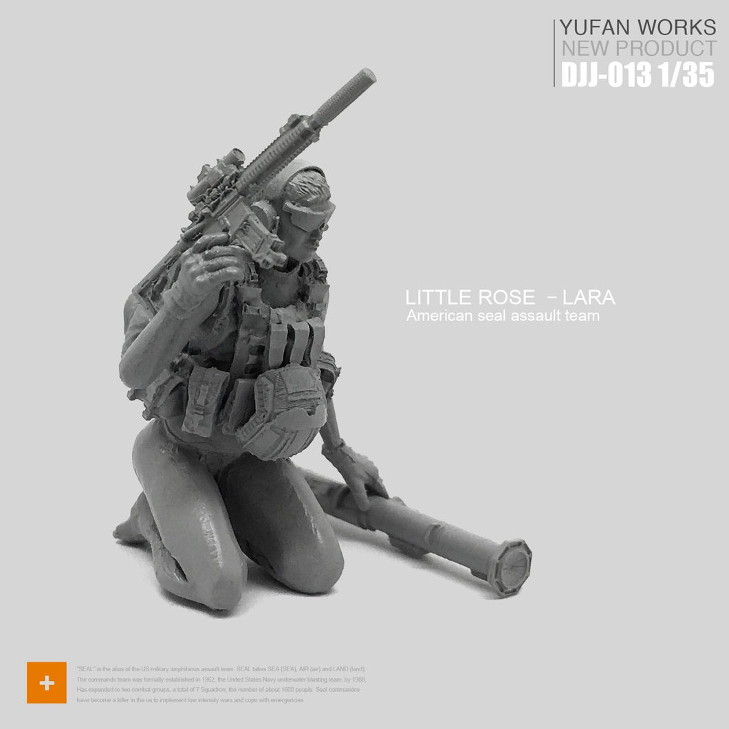 1:35 Tactical Girl Soldier with Grenade Launcher Resin Scale Figure DJJ-13 - Yufan Models Store
