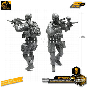 Yufan Model 1/35 Figure Resin Soldier Model  For Modern Us Special Force Captain Unmounted Model Kits Nai-03