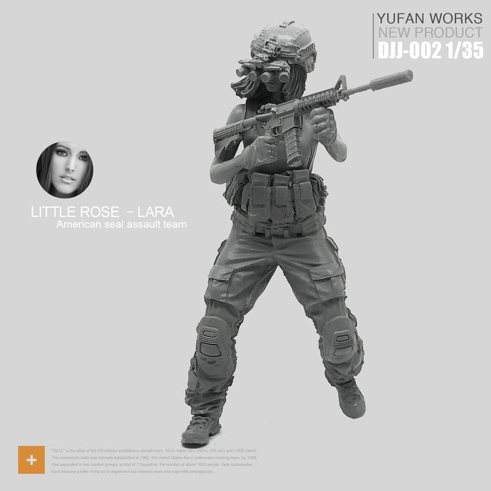 Yufan Model 1/35 Resin Figure Female Soldier Seal Commando Rose Laura Series Night Hunter Model Kit Djj-02