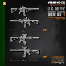 Load image into Gallery viewer, Yufan Model  Original 1/35m4 Rifle-4 Model Resin Soldier Accessories Length 2-3CM Yfww-1866