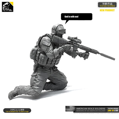 1:35 Modern US Special Forces Soldier Resin Scale Figure LOO-19