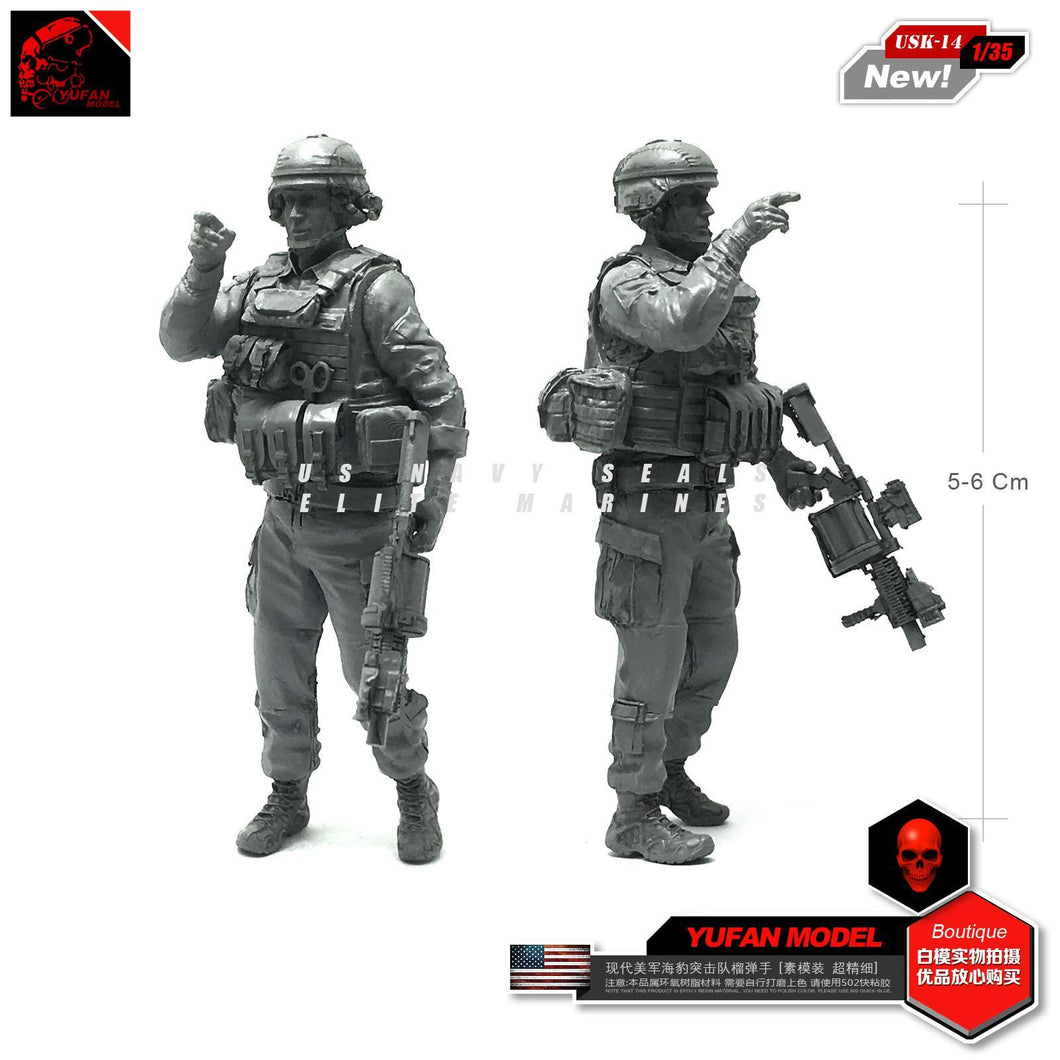 1:35 US Army Soldier With Grenade Launcher M32 MGL Resin Scale Figure USK-14 - Yufan Models Store