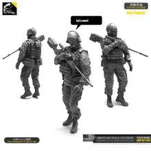 Load image into Gallery viewer, Yufan  Model 1/35 Figure Model Kit U.s. Seals Sniper Resin Soldier Unmounted Loo-02