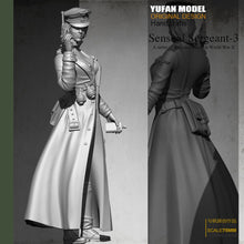 Load image into Gallery viewer, Yufan Model 1/24 Resin Kits  Resin Soldier  Women's Officer Colorless and Self-assembled 75mYfww-1998