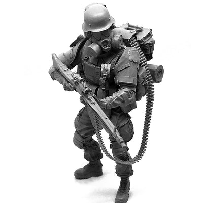 1:35 Post apocalypse Heavy MG 42 Machine Gunner Soldier Scale Resin Figure HONG-05