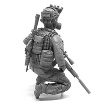Load image into Gallery viewer, 1:35 US Elite Special Forces Team Soldier with Gas Mask Resin Scale Figure HONG-14 - Yufan Models Store