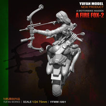 Load image into Gallery viewer, YuFan Model 1/24 75mm  Resin Soldier and motorcycle New Arrival None Unisex Model Kits YFWW-1861