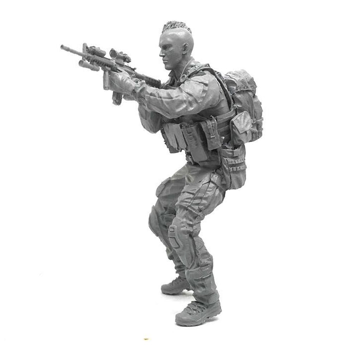 1:35 US Navy Seal Soldier with M4 Rifle Resin Scale Figure DJJ-17 - Yufan Models Store