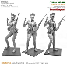 Load image into Gallery viewer, Yufan Model 1/18  Resin Kits Figure  Sexy Women Officers Resin Soldiers  Model  Self-assembled 90mm YFWW-1810