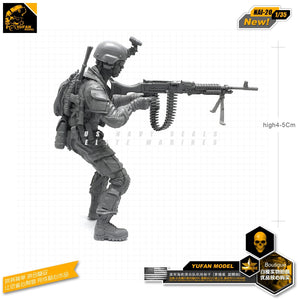 Yufan Model 1/35 Figure Model Kit US Seal Assault Team Resin Soldier Model Nai-20