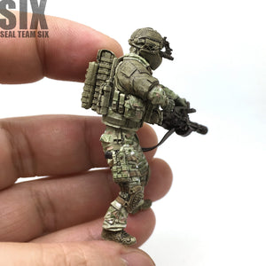 1:35 US ARMY Heavily Armored Soldier with Machine Gun Resin Scale Figure USK-06 - Yufan Models Store