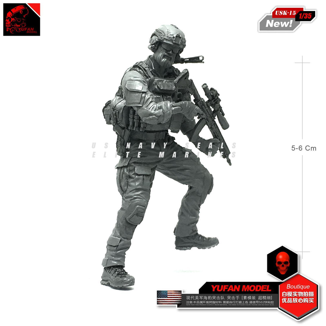 1:35 PMC Operator Blackwater Proffesional Soldier Resin Scale Figure USK-15 - Yufan Models Store