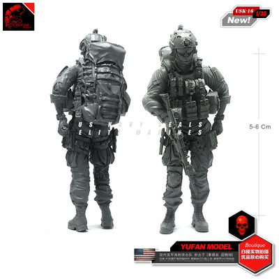 1:35 Modern US Navy Seal Soldier Full Tactical Equipment Resin Scale Figure USK-16