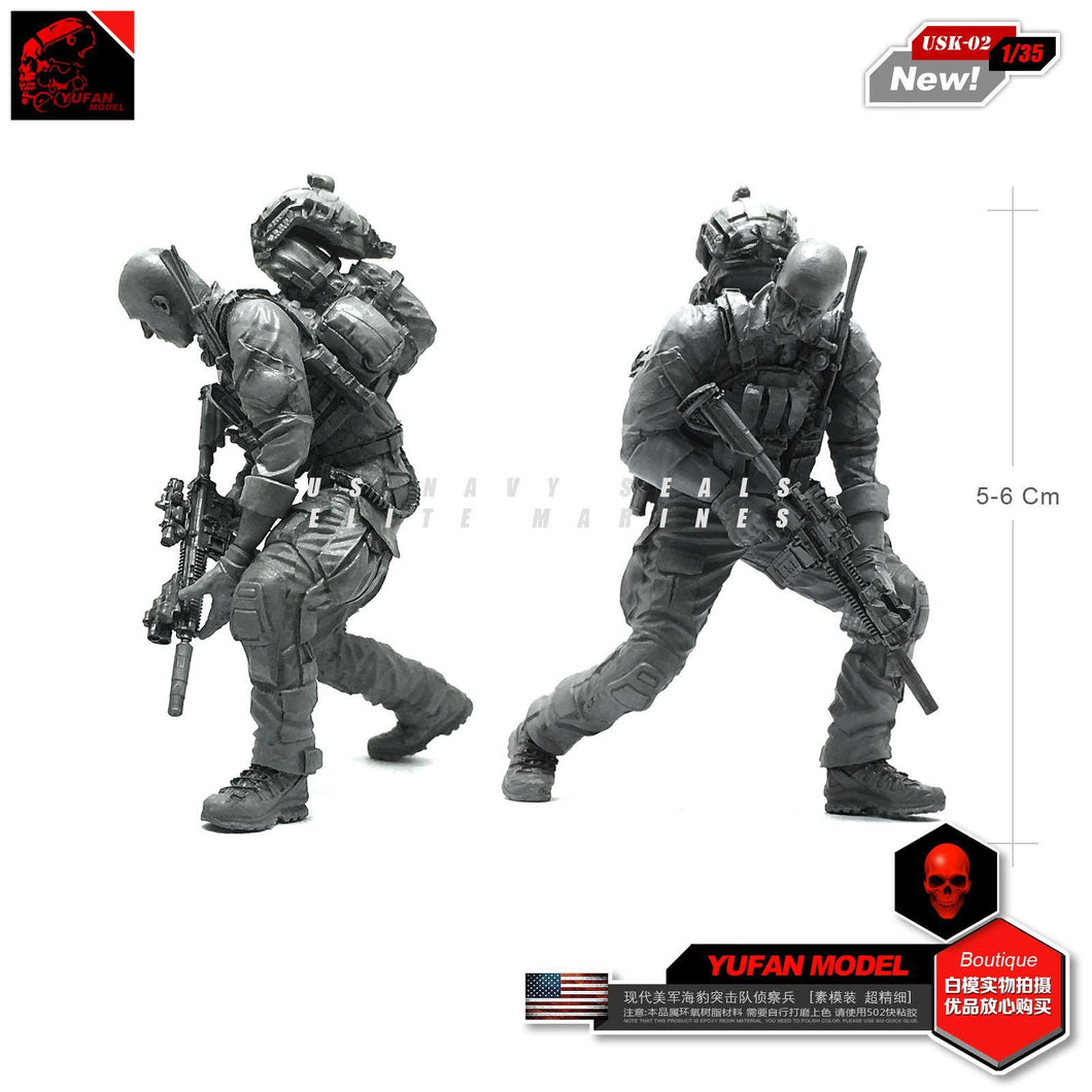 1:35 US Navy Soldier with M4 Rifle Resin Scale Figure USK-02 - Yufan Models Store