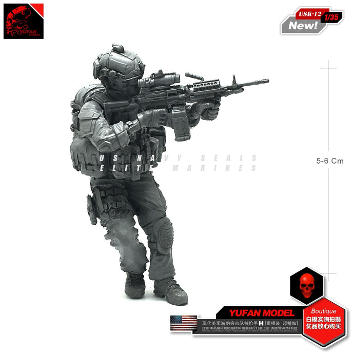Yufan Model 1/35 Resin Soldier Model Usk-12 For Modern American Seals USK-12