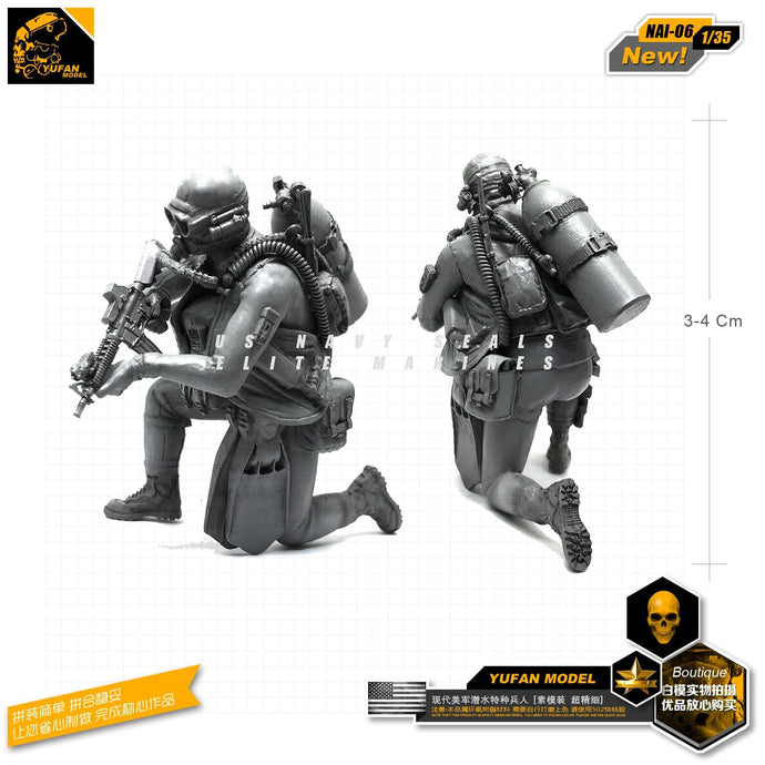 Yufan Model 1/35 Figure Kits Modern American Amphibious Commando Resin Soldier Model Accessories Unmounted Nai-06