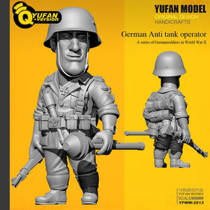 Yufan Model  1/32 Figure Kits  Q Version Resin Soldier (60mm High) Yfww-2013