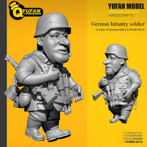 Yufan Model Resin Figure 1/32 (60mm High) Q Version Resin Soldier Model self-assembled Yfww-2014